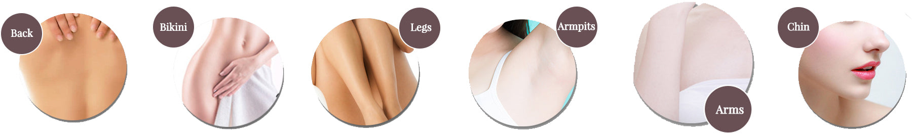 IPL Hair Removal for Back Bikini Legs Armpit Arms Chin