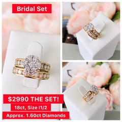 Diamond Bridal Set Delross Jewellers Brisbane