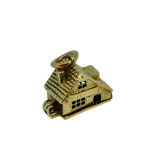 9ct Gold House Charm (House Opens Up)