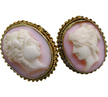 Load image into Gallery viewer, 15ct Gold Victorian Shell Cameo Buttons