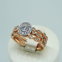 Load image into Gallery viewer, 3-Ring Diamond Bridal Set 9ct Rose Gold 3