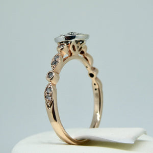 9ct Diamond Ring Rose Gold 6