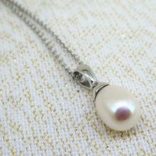 Load image into Gallery viewer, Sterling Silver Pearl Drop Pendant with Chain