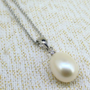Sterling Silver Pearl & CZ Pendant
