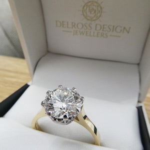 3ct Diamond Solitaire Ring
