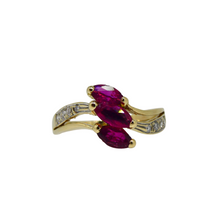 Load image into Gallery viewer, 14ct Ruby & Diamond Ring 2