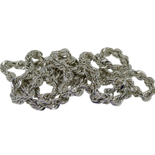 Load image into Gallery viewer, Silver Rope Chain. 2