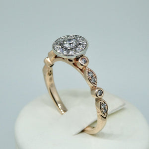 9ct Diamond Ring Rose Gold 4