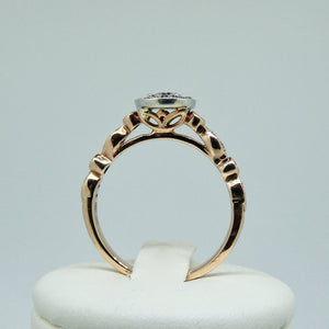 9ct Diamond Ring Rose Gold 5