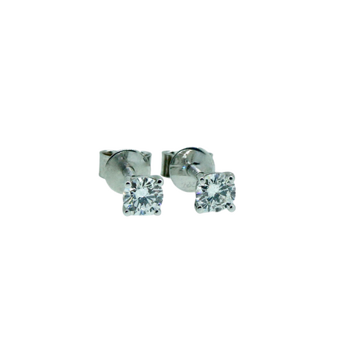 18ct Diamond Studs 0.40ct Screw Backs 1