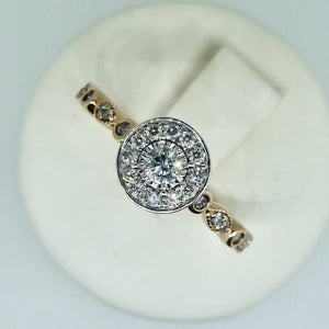 9ct Diamond Ring Rose Gold 2