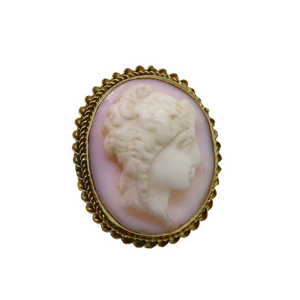 15ct Gold Victorian Shell Cameo Buttons