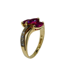 Load image into Gallery viewer, 14ct Ruby & Diamond Ring 4