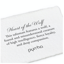 Load image into Gallery viewer, Pyrrha Heart Of The Wolf Talisman Necklace