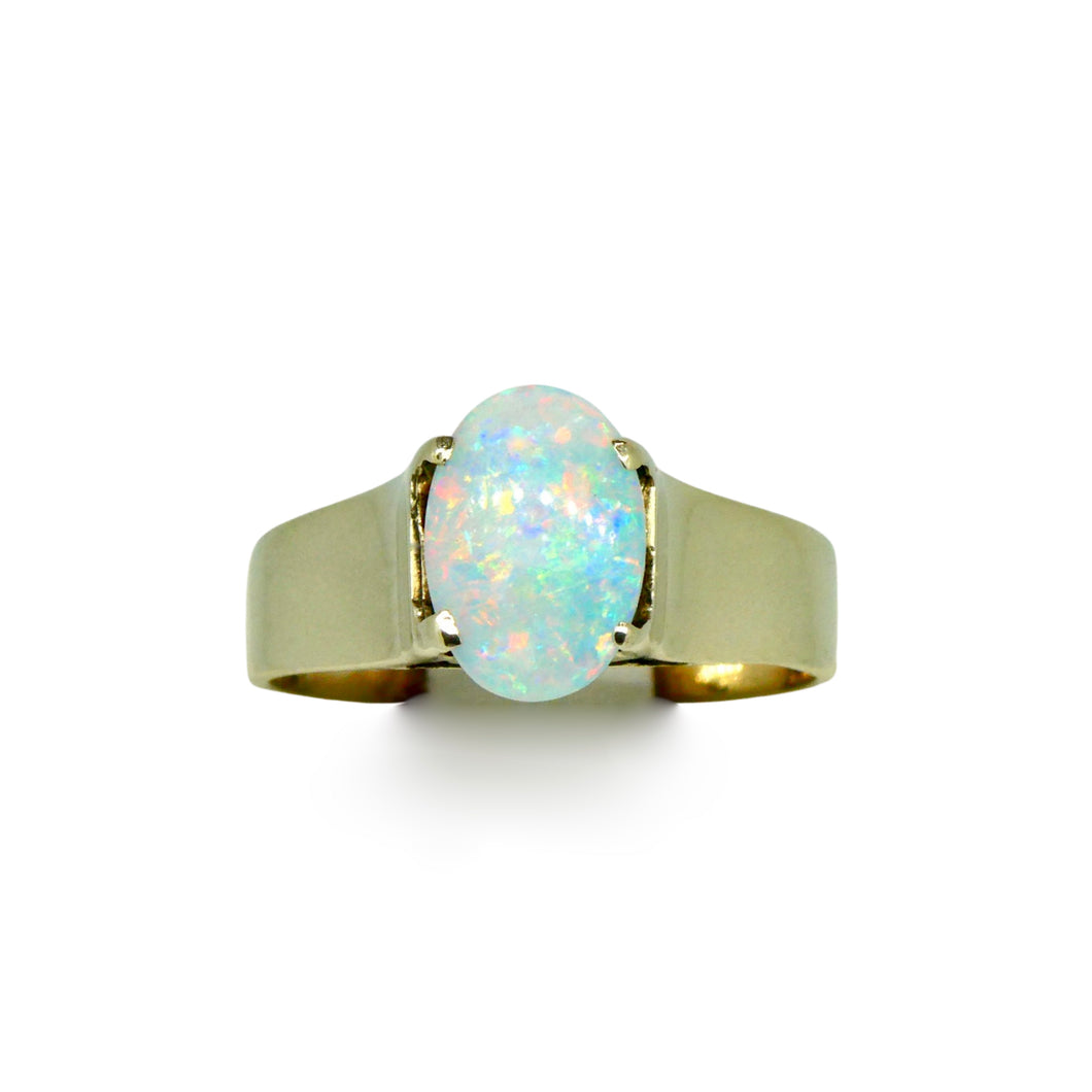 Solid Opal Ring 9ct Gold