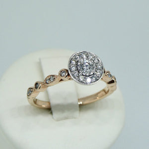 9ct Diamond Ring Rose Gold 3