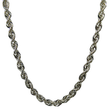 Load image into Gallery viewer, Silver Rope Chain 1