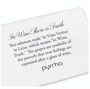 Pyrrha In Wine There Is Truth Talisman Necklace