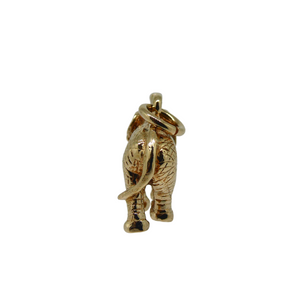 Solid 9ct Gold Elephant Charm