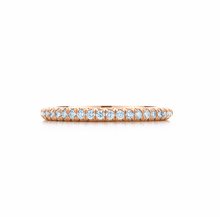 Load image into Gallery viewer, 18ct Rose Gold Tiffany & Co Diamond Band 4