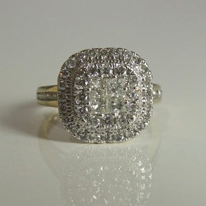 9ct Cluster Diamond Ring 0.77ct TW of Diamonds