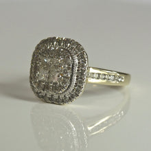 Load image into Gallery viewer, 9ct Cluster Diamond Ring 0.77ct TW of Diamonds 1