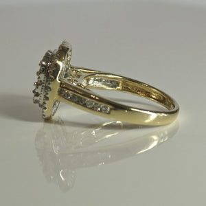 9ct Cluster Diamond Ring 0.77ct TW of Diamonds 2