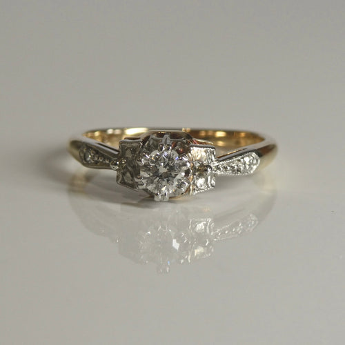 18ct/Plat Antique Style Diamond Ring 0.17ct TW of Diamonds