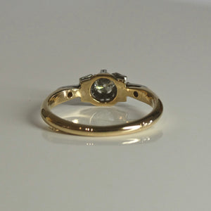 18ct/Plat Antique Style Diamond Ring 0.17ct TW of Diamonds 2
