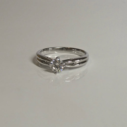 18ct Solitaire Diamond Ring 0.37ct Diamond HEARTS ON FIRE