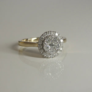 10ct Cluster Halo Diamond Ring 0.50ct TW of Diamonds