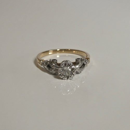 18ct Antique Style Diamond Ring 0.16ct TW of Diamonds
