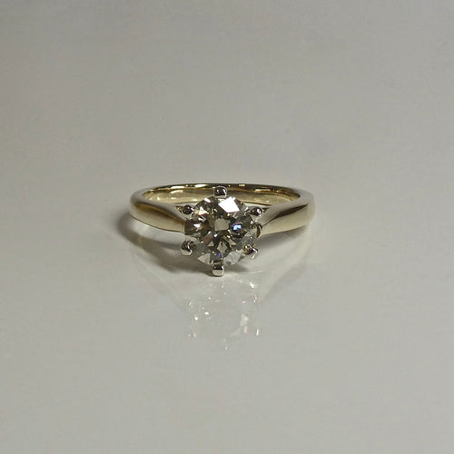 18ct Gold 1.00ct Solitaire Diamond Ring