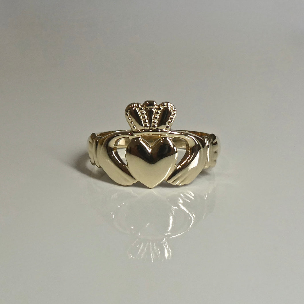 9ct Irish Claddagh Ring Unisex