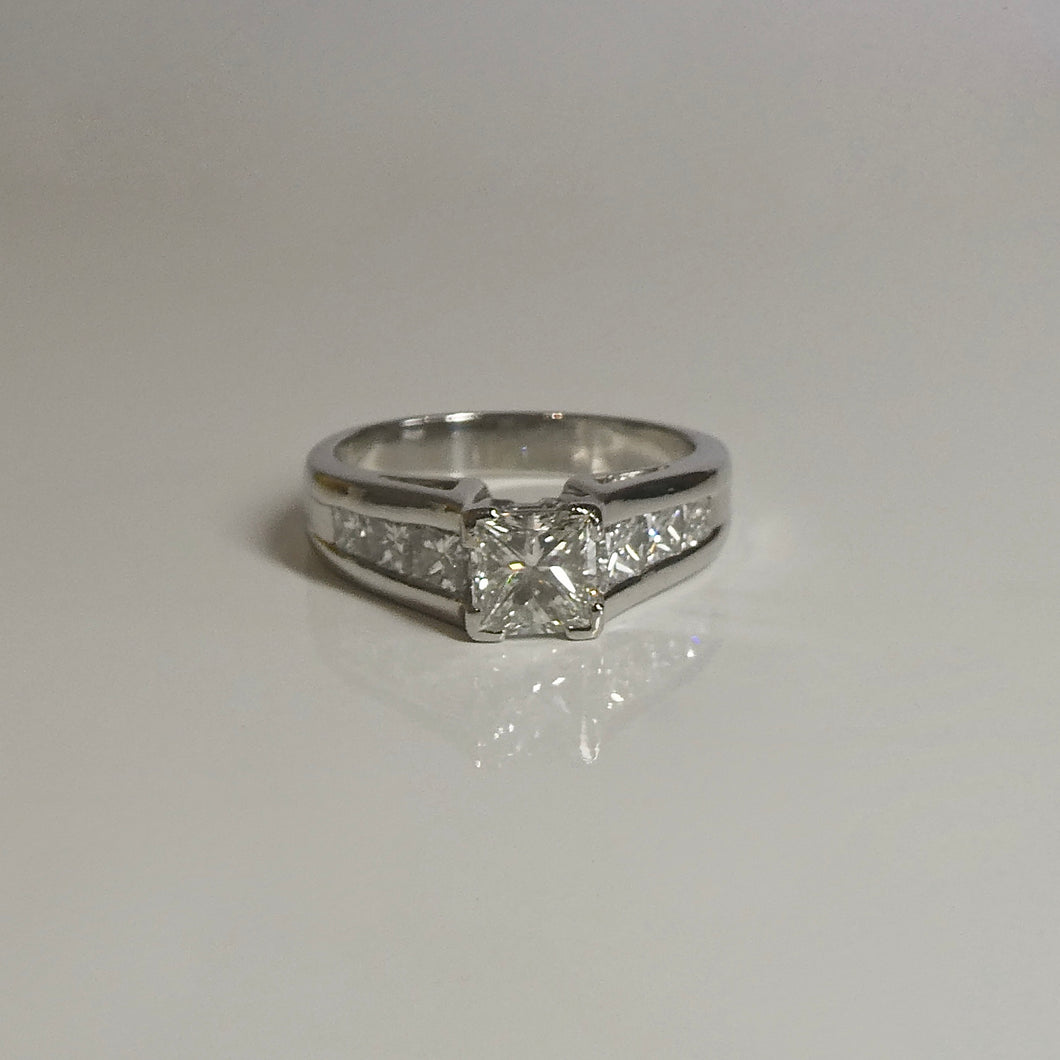 Platinum Engagement Ring 1.90ct TW of Diamonds