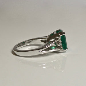 3.60ct Emerald and Diamond Ring 14ct 2