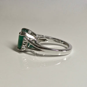 3.60ct Emerald and Diamond Ring 14ct 4