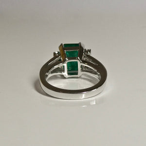 3.60ct Emerald and Diamond Ring 14ct 3