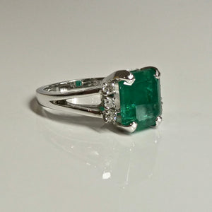 3.60ct Emerald and Diamond Ring 14ct 1
