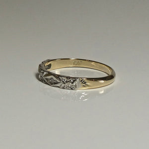 18ct Vintage Style Two-Tone Gold Ring 2