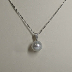 18ct South Sea Circléd Pearl & Diamond Pendant 2