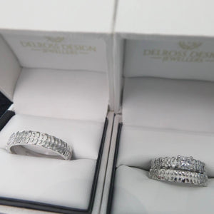 Tyre Tread Engagement & Wedding Rings