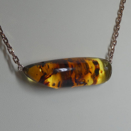 Amber Insects Necklace