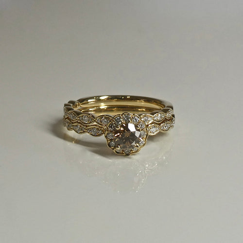 18ct Argyle Cognac Diamond Bridal Set