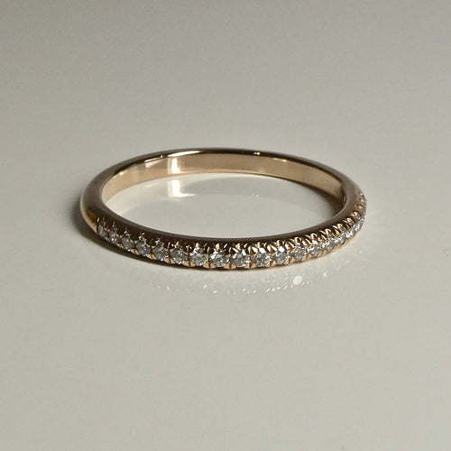 18ct Rose Gold Tiffany & Co Diamond Band