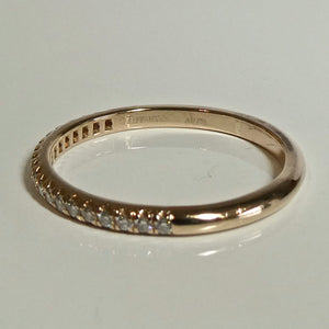 18ct Rose Gold Tiffany & Co Diamond Band 3