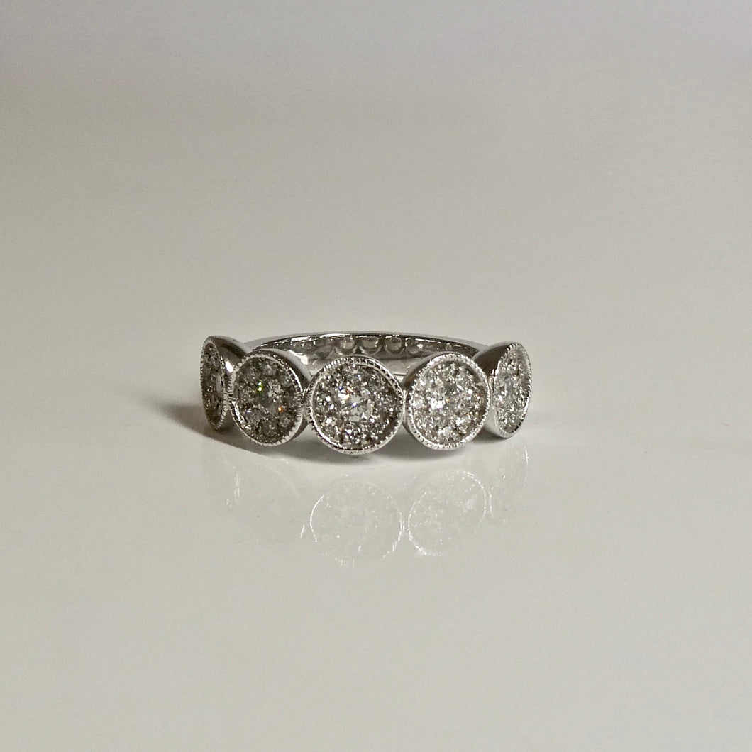 Platinum Diamond Cluster Ring 0.22ct TW of Diamonds