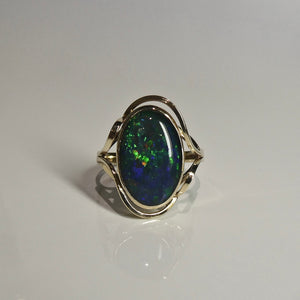 9ct Opal Doublet Ring 2