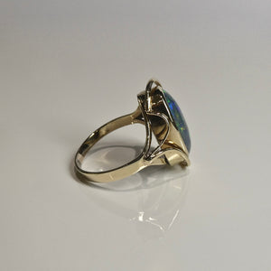 9ct Opal Doublet Ring 6