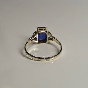 9ct Blue & White Stone Ring 2